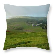 Historic Pierce Point Ranch In Point Reyes Throw Pillow