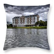 Historic Rice Mill Building Charleston Sc Throw Pillow
