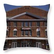 Historic Roanoke City Market Building Throw Pillow