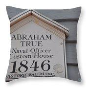 Historic Salem Naval Officer Throw Pillow
