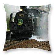 Historic Steam Train Throw Pillow