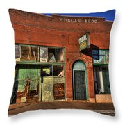 Historic Storefront In Bisbee Throw Pillow