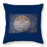 Historic Sydney Hospital - Plaque On Sidewalk Throw Pillow