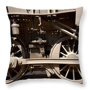 Historic Trains Throw Pillow