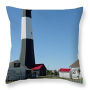 Historic Tybee Island Lighthouse I Throw Pillow