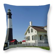 Historic Tybee Island Lighthouse II Throw Pillow