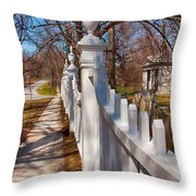 Historic Vermont Fence Throw Pillow