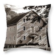 Historic Walnford Mill Throw Pillow