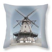 Historic Windmill Throw Pillow