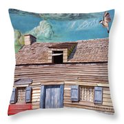 Historic Wooden School House  Throw Pillow
