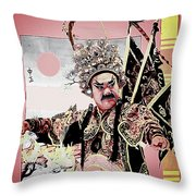 Historical Chinese Warrior Throw Pillow