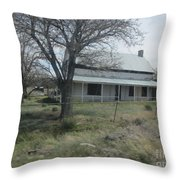 Historical Concho House Throw Pillow