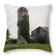 Historical Farm Scene Throw Pillow