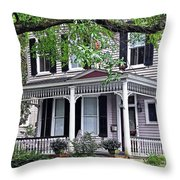 Historical Home In Wilmington Throw Pillow