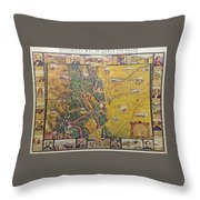 Historical Map Of Early Colorado Throw Pillow
