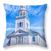 Historical Old First Church Throw Pillow