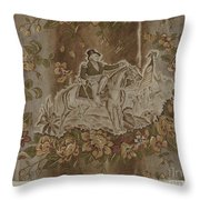 Historical Printed Textile Throw Pillow