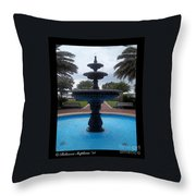 Historical Saint Marys Water Fountain Throw Pillow