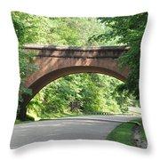 Historical Stone Arched Bridge Throw Pillow