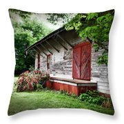 Historical Train Station In Belle Mina Alabama Throw Pillow