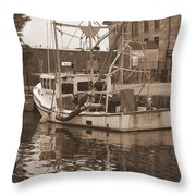 Historical Waterfront  Throw Pillow