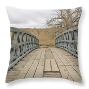 History Bridge Throw Pillow