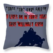 History Lives In The Given Throw Pillow