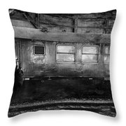 History Train Throw Pillow