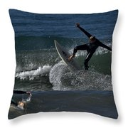 Hit The Brakes Throw Pillow