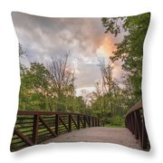 Hit The Trail Throw Pillow
