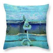 Hitch In Blues Throw Pillow