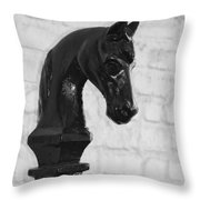 Hitching Post Art Throw Pillow