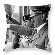 Hitler And Italian Count Ciano Chancellory Berlin 1939 Throw Pillow