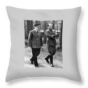 Hitler Strolling With Albert Speer Unknown Date Or Location Throw Pillow