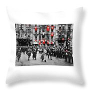 Hitler With Goering And Himmler Marching In Munich Germany C.1934-2016  Throw Pillow