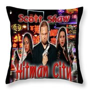 Hitman City Throw Pillow