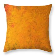 Hkf Yellow Planet Surface Throw Pillow