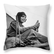 H�l�ne Dutrieu (1877-1961) Throw Pillow