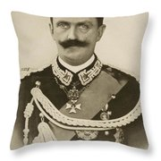 H.m. Victor Emmanuel IIi Of Italy Throw Pillow