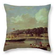 Hm Yacht Victoria Throw Pillow by George Gregory
