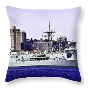 Hmas Darwin Ffg 04 Throw Pillow