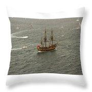Hmb Endevour Enters Sydney Harbour Throw Pillow