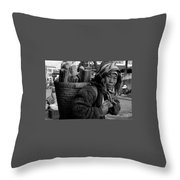 H'mong Woman Throw Pillow