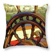 Hms Bounty Wheel Throw Pillow