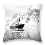 Hms Endurance Antarctic Ice Patrol Ship Throw Pillow