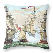 Hms Shannon Vs The American Chesapeake Throw Pillow