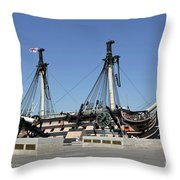 Hms Victory Portsmouth Throw Pillow