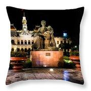 Ho Chi Minh City Hall At Night Throw Pillow
