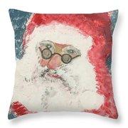 Ho Ho Ho Santa Throw Pillow