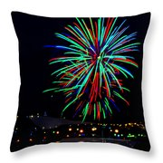 Hobart New Years Eve Fireworks Throw Pillow